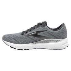 Brooks Ravenna 11 Mens Running Shoes Grey/White US 8, Grey/White, rebel_hi-res