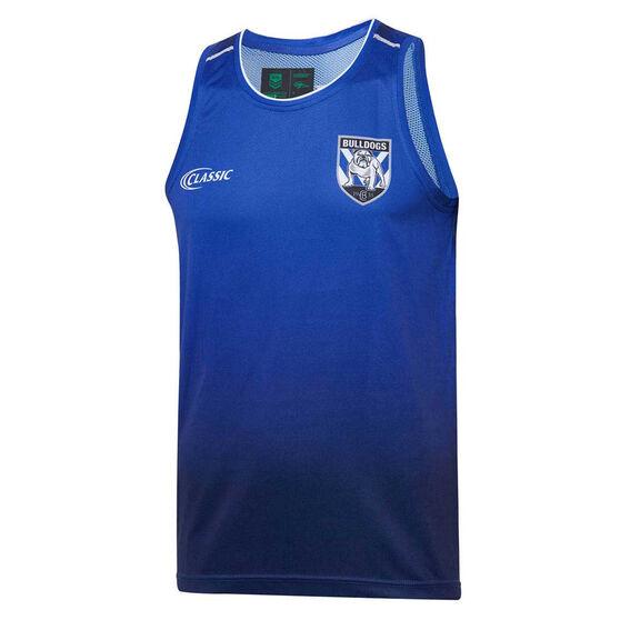 Canterbury-Bankstown Bulldogs 2020 Mens Training Singlet, Blue, rebel_hi-res