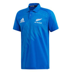 All Blacks Rugby World Cup 2019 Y-3 Mens Anthem Polo Blue S, Blue, rebel_hi-res