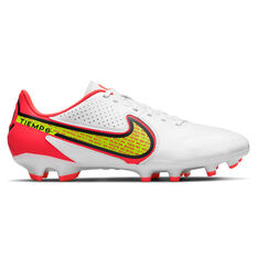 Nike Tiempo Legend 9 Academy Football Boots White/Yellow US Mens 4 / Womens 5.5, White/Yellow, rebel_hi-res