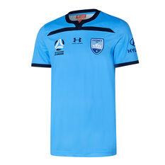 Sydney FC 2019/20 Youth Home Jersey Blue S, Blue, rebel_hi-res