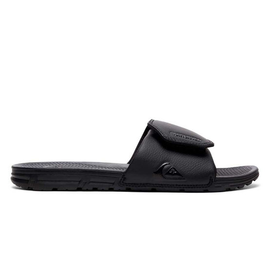 Quiksilver Mens Shoreline Adjust Slides, Black, rebel_hi-res