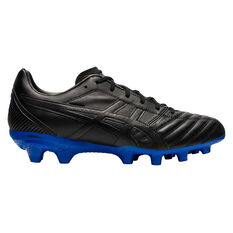 Asics Lethal Flash IT Football Boots Black / Blue US Mens 7 / Womens 8.5, Black / Blue, rebel_hi-res