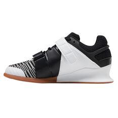 Reebok Legacy Lifter FlexWeave Womens Training Shoes White/Black US 7.5, White/Black, rebel_hi-res