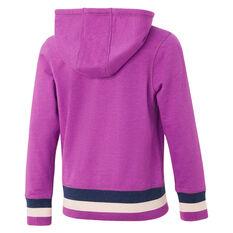 Ell & Voo Girls Harper Fleece Hoodie Purple 6, Purple, rebel_hi-res