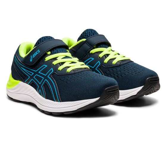 Asics Pre Excite 8 Kids Running Shoes, Navy/White, rebel_hi-res