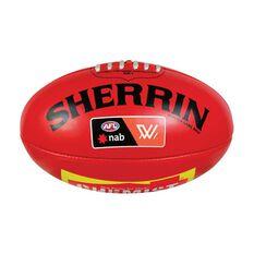 Sherrin AFLW PVC Replica Game Ball Red 4, , rebel_hi-res
