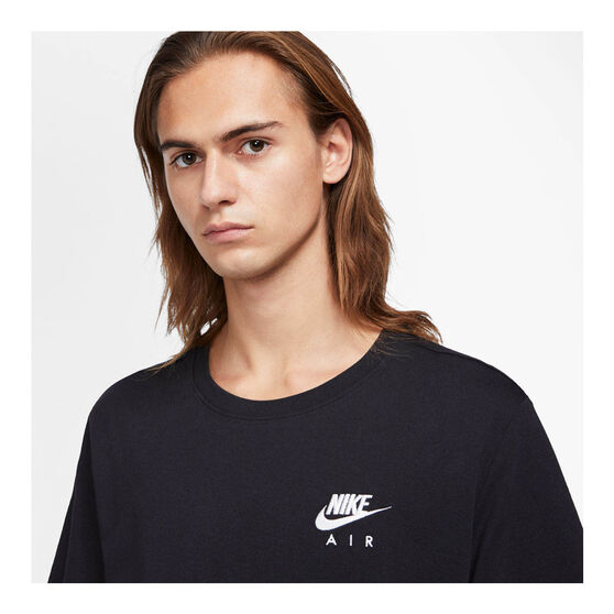 Nike Mens Sportswear Air LBR Tee, Black, rebel_hi-res