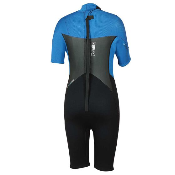 Tahwalhi Junior Spring Wetsuit Black / Blue US 2, Black / Blue, rebel_hi-res