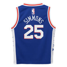 Nike Philadelphia 76ers Ben Simmons Icons 2019 Swingman Jersey Blue / White 2, Blue / White, rebel_hi-res
