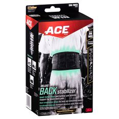 ACE Deluxe Back Stabiliser Black S / M, Black, rebel_hi-res