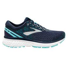 Brooks Ghost 11 Womens Running Shoes Navy / Grey US 6, Navy / Grey, rebel_hi-res