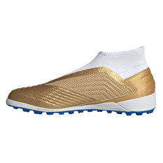 adidas Predator 19.3 Laceless Touch and Turf Boots Gold / Blue US Mens 7 / Womens 8, Gold / Blue, rebel_hi-res