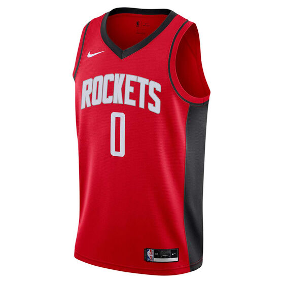 Nike Houston Rockets Russell Westbrook 2020/21 Mens Icon Edition Authentic Jersey, Red, rebel_hi-res