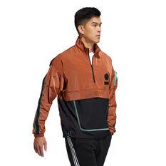 adidas Mens Anorak Windbreaker Orange S, Orange, rebel_hi-res