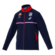 Western Bulldogs 2020 Mens Travel Jacket Navy S, Navy, rebel_hi-res