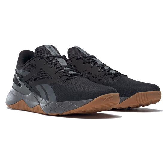 Reebok Nanoflex Mens Training Shoes, Black/Gum, rebel_hi-res