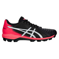 Asics Lethal Ultimate Mens Football Boots Black / Pink US Mens 7.5 /  Womens 9, Black / Pink, rebel_hi-res