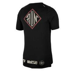 Nike Mens Dri-FIT Rise 365 Wild Run Running Tee, Black, rebel_hi-res