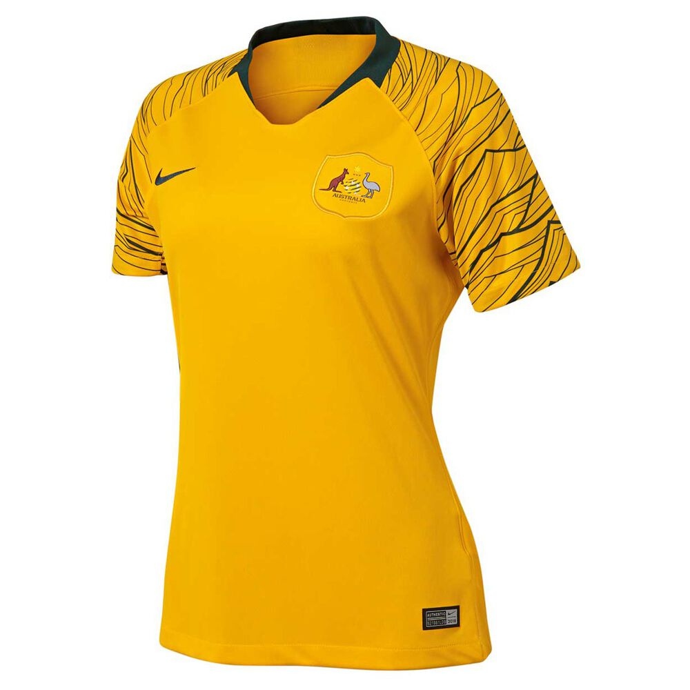 abd4912a Socceroos 2018 Womens Home Football Jersey S, , rebel_hi-res