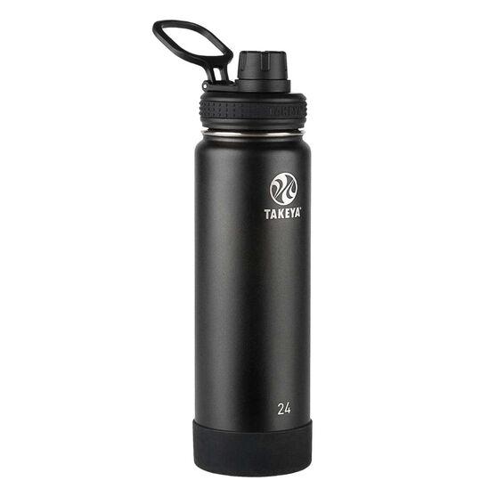 Takeya Actives Insulated Water Bottle 700ml Onyx, Onyx, rebel_hi-res