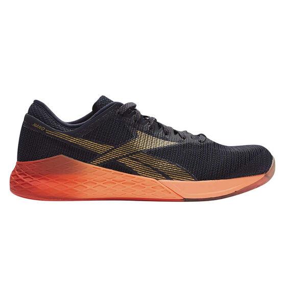 Reebok Nano 9 Mens Training Shoes, Navy / Orange, rebel_hi-res