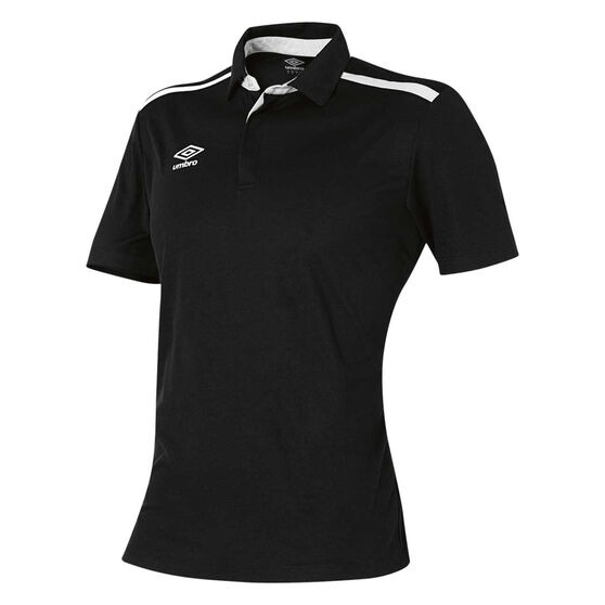 Umbro Velocity Polo Shirt, Black, rebel_hi-res