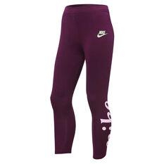 Nike Girls Sportswear Favourite Leggings Purple 4, Purple, rebel_hi-res