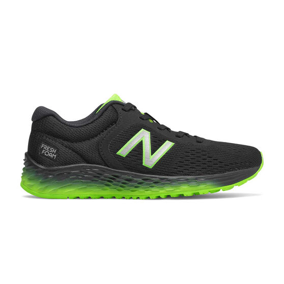 New Balance Fresh Foam Arishi Kids Training Shoes, Black / Green, rebel_hi-res
