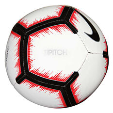 Nike Pitch FA 18 Soccer Ball White 3, White, rebel_hi-res