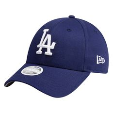 Los Angeles Dodgers Womens New Era 9FORTY Core Team Cloth Strap Cap, , rebel_hi-res