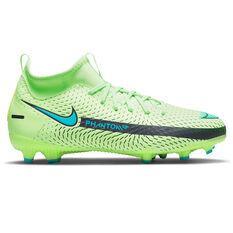 Nike Phantom GT Academy Dynamic Fit Kids Football Boots Green/Blue US 1, Green/Blue, rebel_hi-res