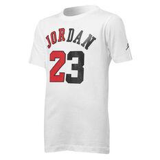 Nike Boys Jordan Flight History Basketball Tee White / Red S, White / Red, rebel_hi-res