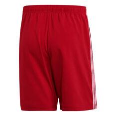 adidas Mens Essentials 3-Stripes Chelsea Shorts Red XS, Red, rebel_hi-res