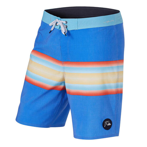 "Quiksilver Mens Highline Six Channel 19"" Board Shorts, Blue, rebel_hi-res"