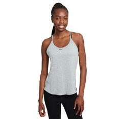 Nike Womens Dri-FIT One Tank Grey XS, Grey, rebel_hi-res