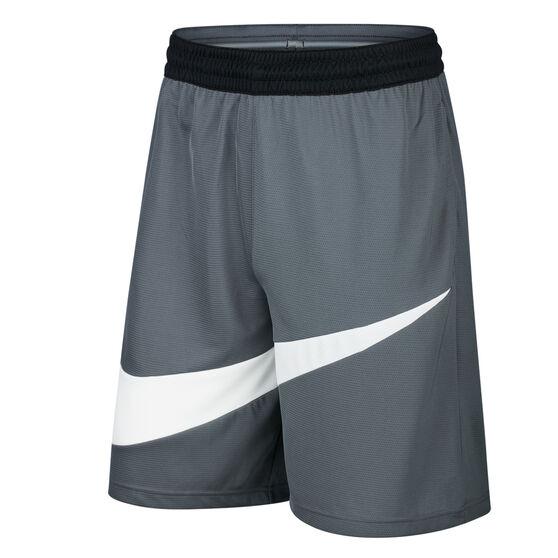 Nike Mens Dri-FIT HBR 2 Basketball Shorts, Grey, rebel_hi-res