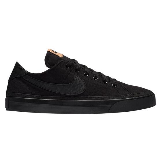 Nike Court Legacy Canvas Mens Casual Shoes, Black, rebel_hi-res
