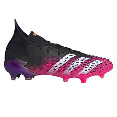 adidas Predator Freak .1 Football Boots Black US Mens 6 / Womens 7, Black, rebel_hi-res