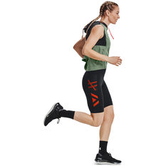 Under Armour Womens Run Anywhere 1/2 Tights Black XS, Black, rebel_hi-res