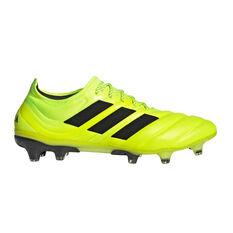 adidas Copa 19.1 Football Boots Yellow / Black US Mens 7 / Womens 8, Yellow / Black, rebel_hi-res