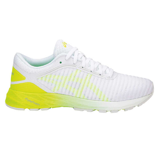 Asics Dynaflyte 2 Womens Running Shoes White / Yellow US 8.5, White / Yellow, rebel_hi-res