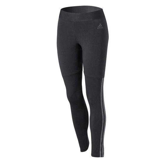 adidas Womens Sport ID Velour 3-Stripes Tights, Black, rebel_hi-res