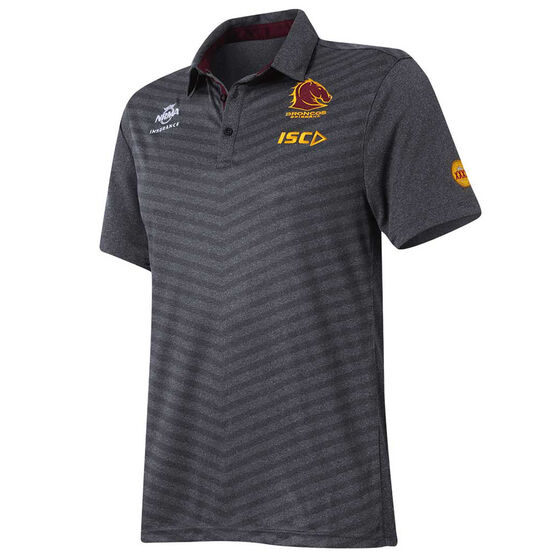 Brisbane Broncos 2017 Mens Sublimated Polo Shirt S, , rebel_hi-res