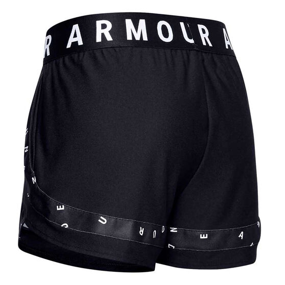 Under Armour Womens Play Up 3.0 Shorts, Black, rebel_hi-res
