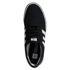 adidas Seeley Mens Casual Shoes Black/White US 8, Black/White, rebel_hi-res