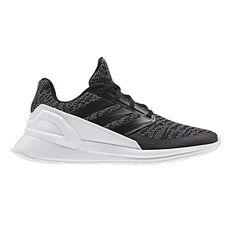 adidas Rapidarun Knit Kids Training Shoes Black / White US 3, Black / White, rebel_hi-res