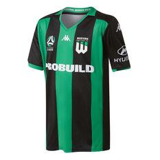 Western United 2019/20 Kids Home Jersey Black / Green 8, Black / Green, rebel_hi-res