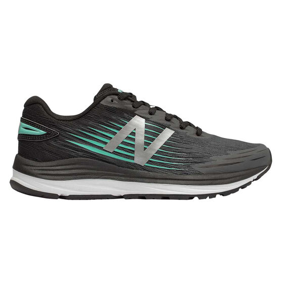 New Balance Synact Womens Running Shoes, Black / Yellow, rebel_hi-res