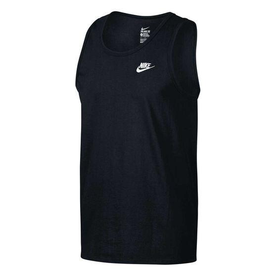 cheap for discount 6c96a e6876 Nike Mens VS Futura Club Singlet Black S, Black, rebel hi-res